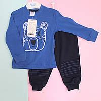 Костюм трикотажный для мальчика Мишка: кофта, спортивные штаны размер 80