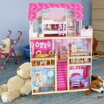 Большой деревянный кукольный домик c мебелью ECOTOYS, фото 2