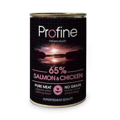 Консервы для собак Profine Dog 400г с лососем и мясом кур