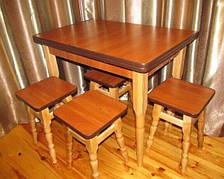 Стол Кухонный Раскладной + 4 Стула в Наличии