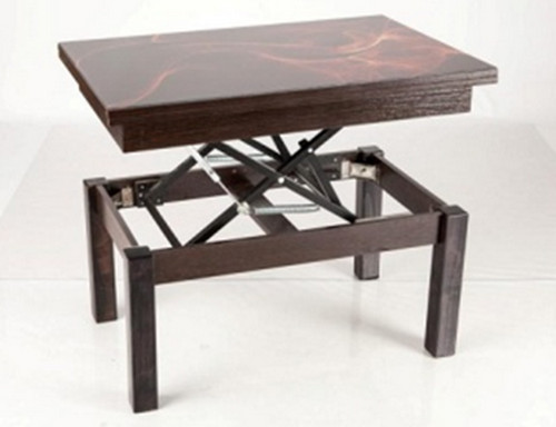 Стол-трансформер Флай + стекло (Венге)