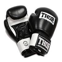 Боксерские перчатки  THOR SPARRING (PU) черно-белые, фото 1