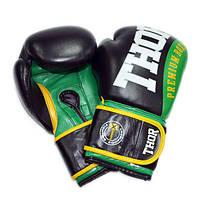 Боксерские перчатки THOR SHARK (PU) зеленые, фото 1