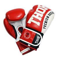 Боксерские перчатки THOR SHARK (Leather) красные, фото 1