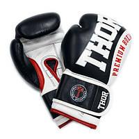 Боксерские перчатки THOR SHARK (Leather) черные, фото 1