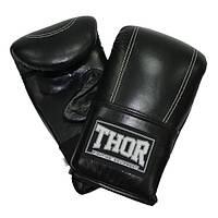 Снарядные перчатки THOR 605 (Leather) черные, фото 1