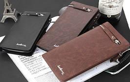Мужской клатч кожаный портмоне кошелек Baellerry Italia