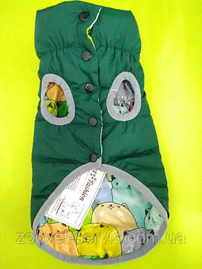 Жилет МаркоPet Fashion XS зеленый/котики, фото 2