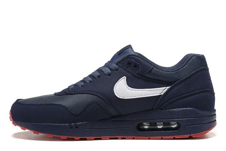 Оригинальные мужские кроссовки Nike Air Max 87 Blue Navi Red | найк аир макс 87 синие 41