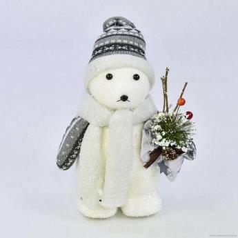 """Декоративная новогодняя фигурка """"Белый медведь"""" C30568"""