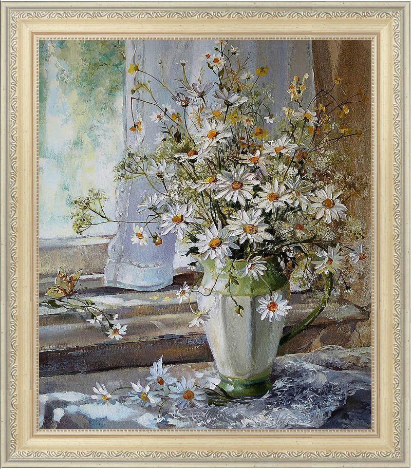 Репродукція сучасної картини «Натюрморт з квітами»