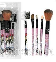 Набор кисточек для макияжа MaXmaR из 5 инструментов в прозрачном футляре МВ-202