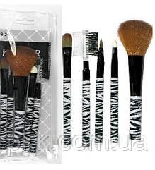 Набор кисточек для макияжа MaXmaR из 5 инструментов в прозрачном футляре МВ-204