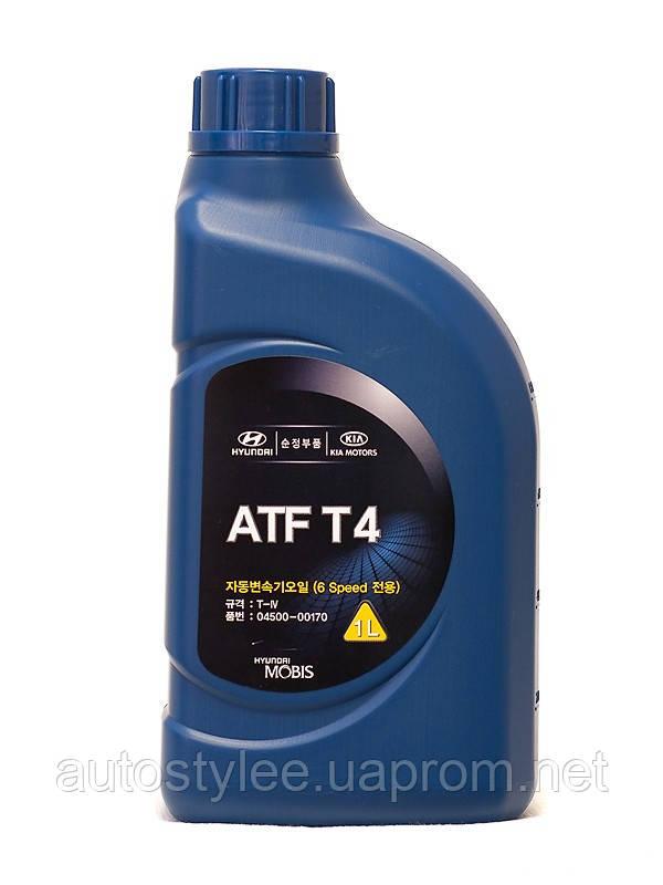 Масло трансмиссионное Mobis (Hyundai Kia) ATF T4 (04500-00170) 1 л.