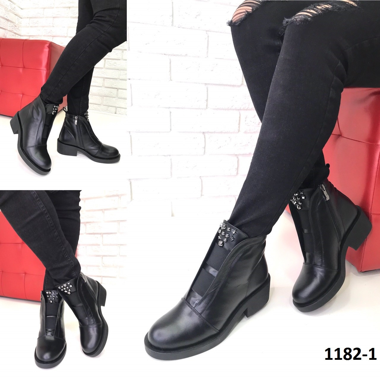 6c86aca18 Женские кожаные ботинки зима черные - СУМКИ, ОБУВЬ И АКСЕССУАРЫ ИЗ  НАТУРАЛЬНОЙ КОЖИ ОТ ПРОИЗВОДИТЕЛЯ