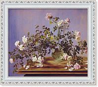 Репродукция  современной картины  «Натюрморт с розами» 30 х 35 см