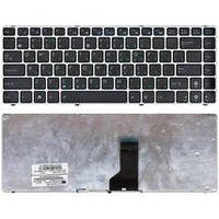 Клавиатура для ноутбука Asus (UL30, K42, K43, X42) Black, (Silver Frame) RU Asus UL30, K42, K43, X42