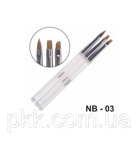 Набор кисточек CHRISTIAN для наращивания и дизайна NB-03