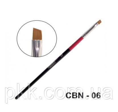 Кисть для маникюра Christian со скошенным срезом CBN-06