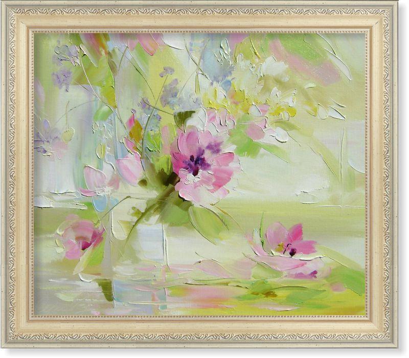 Репродукция  современной картины  «Цветочная нежность»