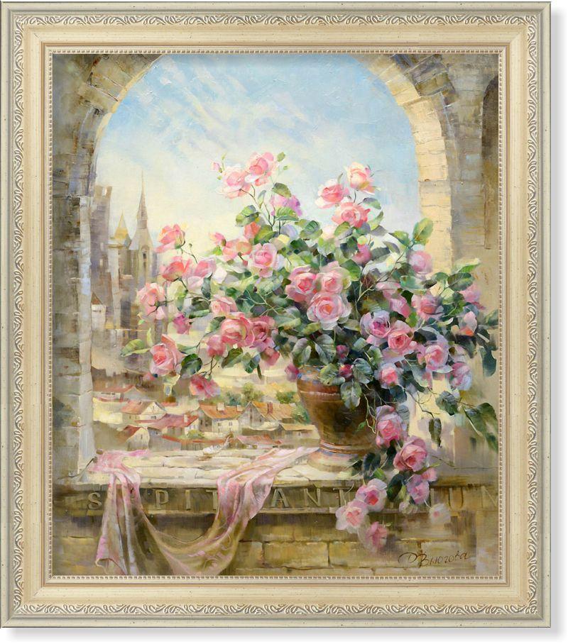 Репродукція сучасної картини «Троянди й історія»