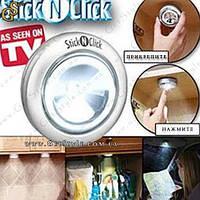 """Светодиодный светильник - """"Stick N Click"""" - 1 шт., фото 1"""