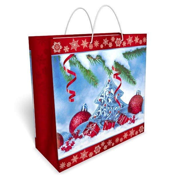 """Пакет подарунковий 32 х 32 див.""""Зима"""" 34.039"""
