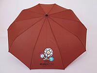 Женский зонт однотонный  Серебряный дождь полный автомат  коричневый