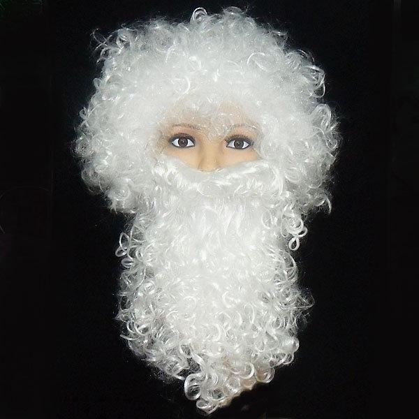 Набор Деда Мороза Bonita Парик и борода белый