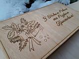 Набір дерев'яних новорічних іграшок в подарунковій коробці з гравіруванням, фото 6