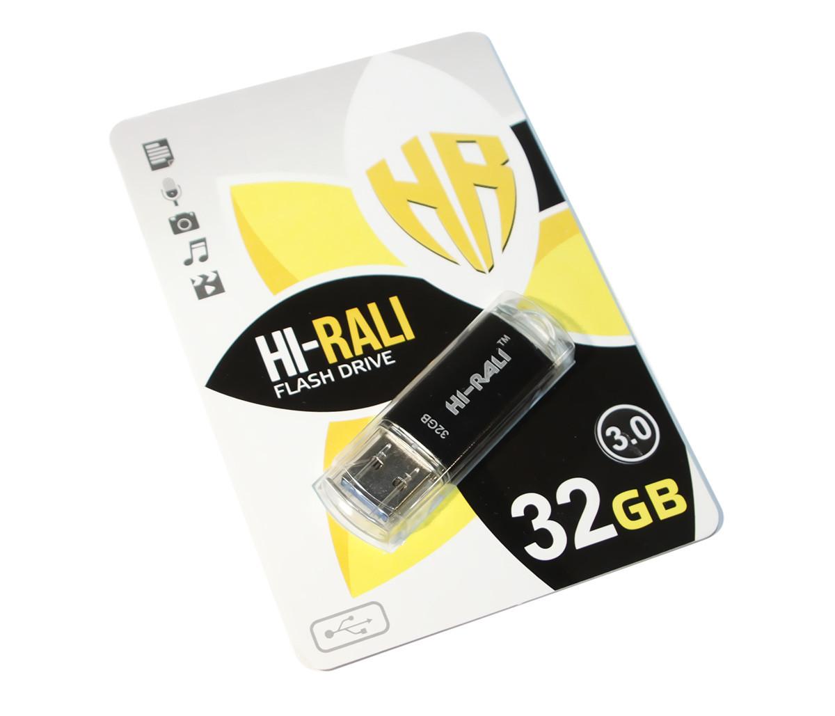 Флешка USB 3.0 32 Gb Hi-Rali Rocket series Black, HI-32 Gb3VCBK