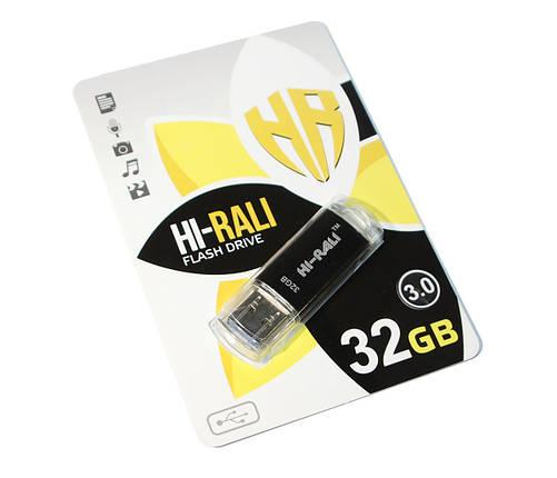 Флешка USB 3.0 32 Gb Hi-Rali Rocket series Black, HI-32 Gb3VCBK, фото 2