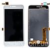Дисплей (екран) для Lenovo A1010 A Plus (A1010a20) ленів + тачскрін, колір білий