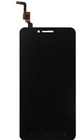 Дисплей (экран) для Lenovo A6020 a40 Vibe K5 леново + тачскрин, цвет черный