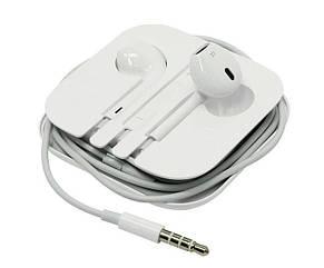 Наушники Apple EarPods с микрофоном, гарнитура проводные наушники для айфона ЕирПодс хорошая копия