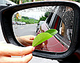 Пленка Anti-fog film 100*100 мм, анти-дождь для зеркал авто бесцветная защитная плёнка от воды бликов и грязи, 100*100 мм Оригинал, фото 4