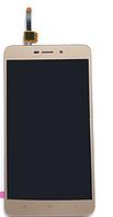 Дисплей (экран) для Xiaomi Redmi 4X, Redmi 4X Pro ксиоми + тачскрин, цвет золотой