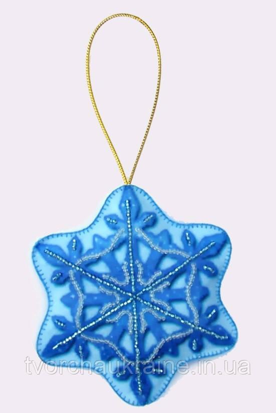 Снежинка. Набор для создания мягкой игрушки (вышивка бисером)
