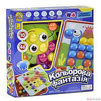 "Мозаика 7033 (12) 10 платформ с рисунками, 46 элементов, коробке ""FUN GAME"""