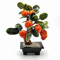 Мандариновое дерево, 12 плодов, 25см,деревья счастья, декоративные деревья,искусственные бонсаи