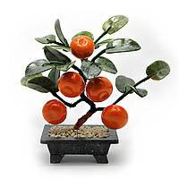 Мандариновое дерево, 5 плодов, 13см,деревья счастья, декоративные деревья,искусственные бонсаи