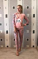 Женская теплая домашняя пижама на флисе, домашняя одежда, Турция