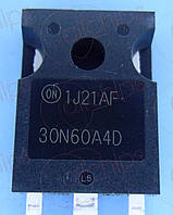 MOSFET N-канал IGBT 600В 30А ONS HGTG30N60A4D TO247