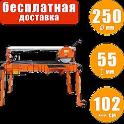 Плиткорез с подъёмным мотором и охлаждением LEX LXTC250 электроплиткорез с подачей воды, камнерез станок