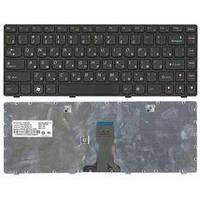 Клавиатура для ноутбука Lenovo IdeaPad (Z380) Black, (Black Frame), RU IdeaPad Z380