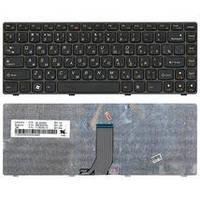 Клавиатура для ноутбука Lenovo IdeaPad (Z470, G470Ah, G470GH, Z370) Black, (Black Frame), RU IdeaPad Z470
