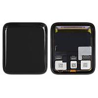 Дисплей (LCD) для смарт-часов Apple Watch 3 42mm с тачскрином, чёрный