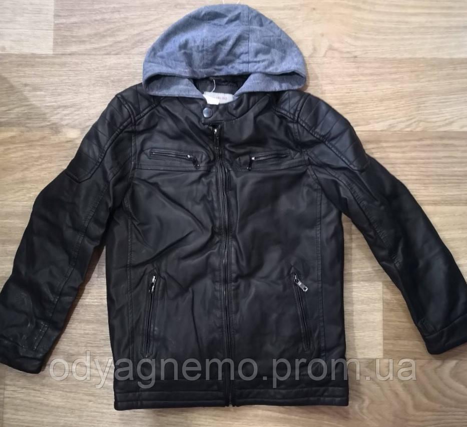 Куртка кожзам на меху для мальчиков Glo-Story оптом , 134/140-170 рр.