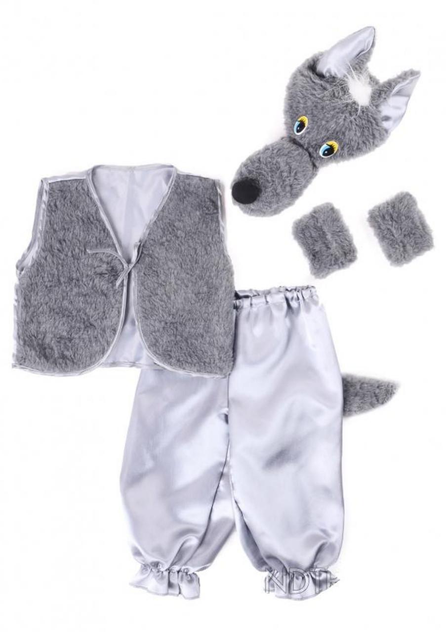 Карнавальный костюм Bonita Волк 95-110 см Серый