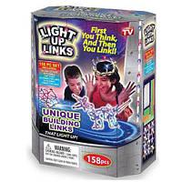 Детский Светящийся конструктор Light Up Links (Лайт ап линкс) 158 деталей, фото 1